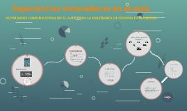 Experiencias innovadoras en el aula