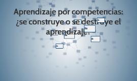 Aprendizaje por competencias: