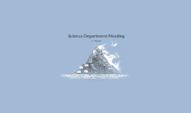 Science Department Meeting