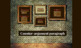 Counter-argument paragraph