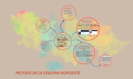 Copy of METODO DE TRANSPORTE DE LA ESQUINA NOROESTE