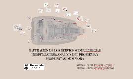SATURACIÓN DE LOS SERVICIOS DE URGE
