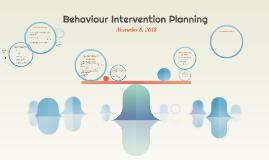 Behaviour Intervention Planning