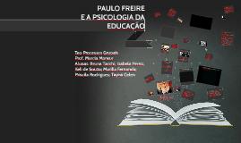 PAULO FREIRE E A PSICOLOGIA DA EDUCAÇÃO