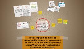 Copy of Tesis: Impacto del nivel de comprensión lectora de los alumn