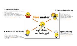 itslearning: Fire vurderingsmåter