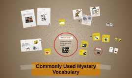 Commonly Used Mystery Vocabulary