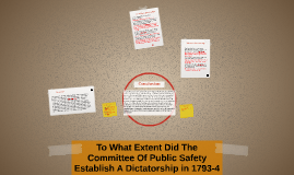 To What Extent Did The Committee Of Public Safety Establish