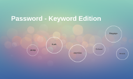 Password - Keyword Edition