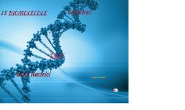 Le biomolecole: carboidrati, protein, lipidi e acidi nucleici