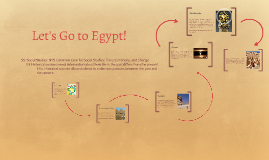 Let's Go to Egypt!