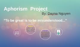Aphorism  Project