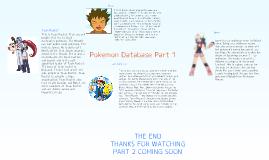 Pokemon Database