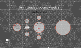 Tenth Grade Lit/Comp Week 3