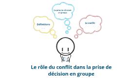 Copy of Le rôle du conflit dans la prise de décision en groupe