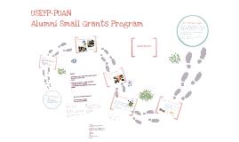 Alumni Small Grants Presentation