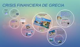 CRISIS FINANCIERA DE GRECIA