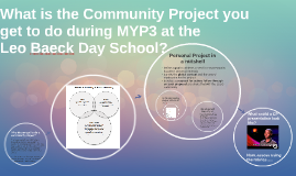 Community Project at Leo Baeck Day School In a Nutshell 2016-2017