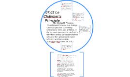 07.05 Le Châtelier's Principle