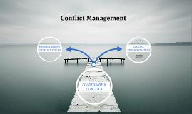 LEADERSHIP & CONFLICT