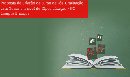 Proposta de Criação de Curso de Pós-Graduação Lato Sensu em