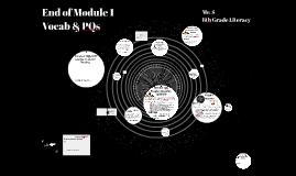End of Module 1 Vocab
