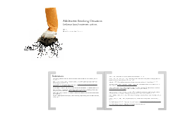 Adolescent Smoking Cessation