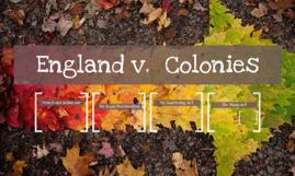 England v.  Colonies