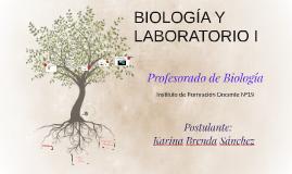 BIOLOGÍA Y LABORATORIO I