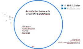 Robotische Systeme in Gesundheit und Pflege