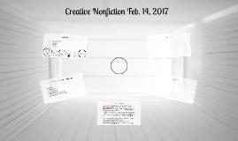 Creative Nonfiction October 3, 2013