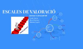 ESCALES DE VALORACIÓ