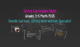 Gifted Curriculum Night