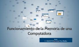 funcionamiento de la memoria de una computadora