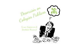 Deserción en colegios públicos