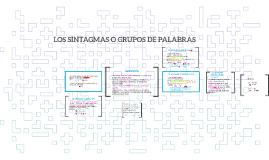 Copy of LOS SINTAGMAS O GRUPOS DE PALABRAS