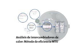 Análisis de intercambiadores de calor: Método de eficiencia