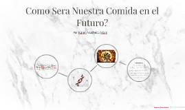 Como Sera Nuestra Comida en el Futuro?