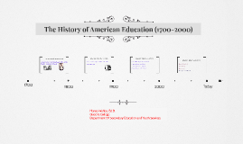 The History Of American Education (1700-2000)