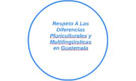 Respeto A Las Diferencias Pluriculturales y Multilingüistica