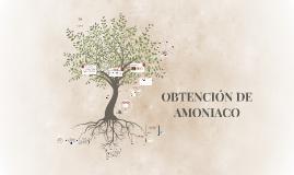 OBTENCION DE AMONIACO