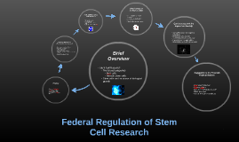 Federal Regulation of Stem Cell Research