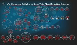 Copy of Os materiais sólidos  e suas três classificações básicas.