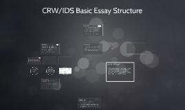 CRW/IDS Part-Time Indian Essay Structure