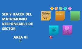 Copy of SER Y HACER DEL MATRIMONIO RESPONSABLE DE SECTOR