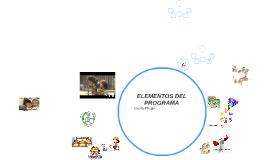 ELEMENTOS DEL PROGRAMA