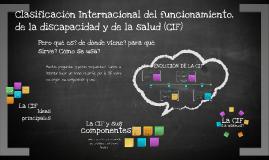 Clasificación Internacional del funcionamiento, de la discap