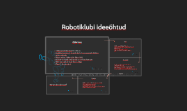 Robotiklubi ideeõhtud