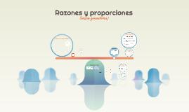 Razones, proporciones y Teorema de Tales