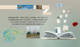 PROMOCIÓN EDUCATIVA SOBRE TÉCNICAS Y HABILIDADES DE GESTIÓN